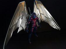 Archangel with custom metallic wings marvel legends figure X-Men