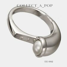 Authentic Kameleon Ice 925 Silver Side Facing Pearl Ring Size 8  IR002