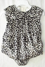 First Impressions 2-Piece Velvet Leopard Dress Set Girl size18 Months NWT G82036