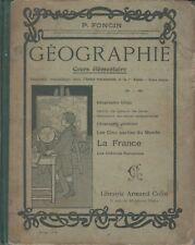 GEOGRAPHIE / COURS ELEMENTAIRE / P. FONCIN