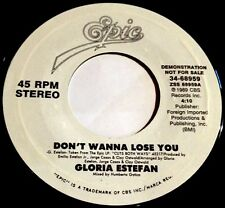 Gloria Estefan 45 Don't Wanna Lose You / Si Voy A Perderte  PROMO