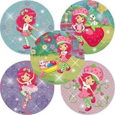 10 Glitter Strawberry Shortcake Stickers Party Favors Teacher Supply Birthday #2