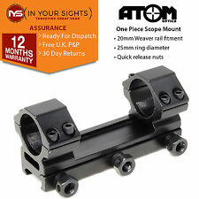 One piece medium profile weaver rail rifle scope mount /25mm (1inch) scope rings