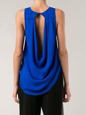 Haute Hippie Cowl Back Silk Top Blouse $265 Size  S