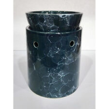 Tall Blue Marbled Ceramic Electric Scented Oil Tart Candle Burner/Warmer Light