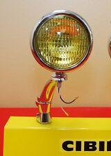 "5"" Round Amber Fog Light & Bracket Vintage Yellow Antique 12V Single"