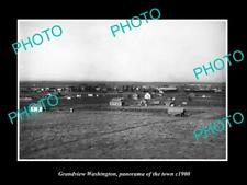 OLD POSTCARD SIZE PHOTO OF GRANDVIEW WASHINGTON PANORAMA OF THE TOWN c1900