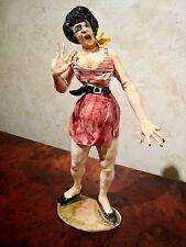 "RARE Italian Ceramic Figurine-""STREET WALKER in Red Stripe""-ALDO CIOLLI- Firenze"