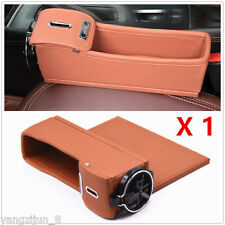 PU Leather Caddy Car Seat Gap Slit Filler Pocket Catcher Box Storage Organizer