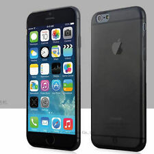 """Black Slim Matte Frosted Transparent Case iPhone 6/s 4.7"""" & Screen Protector"""