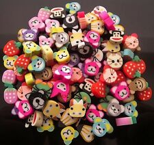 30 MIXED FIMO POLYMER CLAY  ANIMAL BEADS HOLE IS TOP TO BOTTOM - FREE & FAST P&P