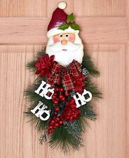 Festive SANTA Christmas WALL SWAG, NEW!
