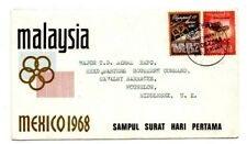 MALAYSIA 1968 Olympic Games FDC with Bureau stamp bulletin