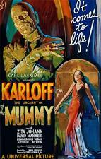 The Mummy Vintage Movie Poster Lithograph Boris Karloff Hand Pulled S2 Art