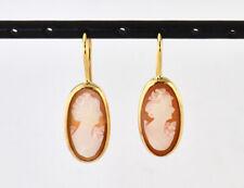 Ohrring Ohrhänger Muschelgemme 585/000 14 K Gelbgold