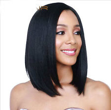 USJF10275 short black straight human natural hair wig women wigs (No Lace)