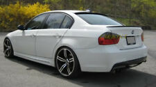 Matte Black BMW E90 POSTERIORE BOOT LIP SPOILER ALA 4D M3 stile 2005-2012 UK Venditore