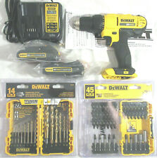 "DeWALT DCD771 (1/2"") 20V MAX DRILL/DRIVER, DCB107 CHARGER,DCB207 BATTERIES, SETS"