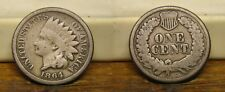 1864 INDIAN HEAD PENNY COPPER NICKEL CENT US COIN