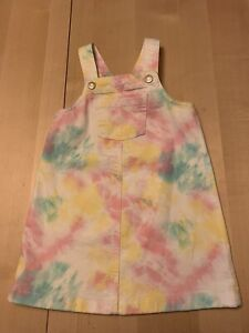 Old Navy Colorful Pastel Tie-dye Denim Overall Dress, 5T, NWOT, Adorable!