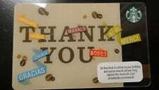 "Starbucks ""thank you"" COLLECTIBLE GIFT CARD New Never Swiped"