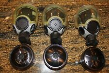 Three Adult-Small Msa Millenium Gas Masks and Four Us Made Cbr Filters-1 Sealed