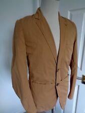BNWT Paul Smith Jeans Sand  Rever Cotton Blazer Jacket size S