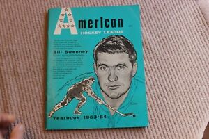 1963-64 AHL minor league hockey 56-page yearbook