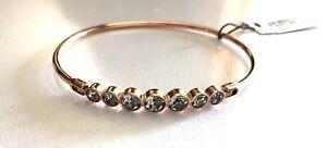 Fossil Rhinestone Rose Gold Bangle Bracelet  NWT  $60