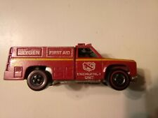 Hot Wheels 1974 Red Line Emergency Unit Red Body yellow & white tampos .