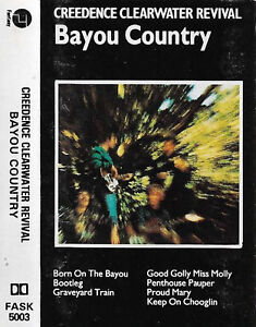 Creedence Clearwater Revival Bayou Country CASSETTE ALBUM Reissue Rock