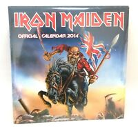 Iron Maiden Official 2014 Calendar New Sealed Authentic NOS Ed Album Art