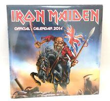 Iron Maiden Official 2014 Calendar New Sealed Authentic NOS Ed Album Art