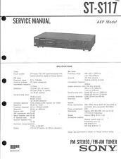 Sony Original Service Manual per ST-S 117