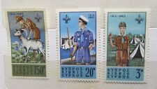 1963 Cyprus Scouts 50th Anniversary 3 Stamp Set MUH