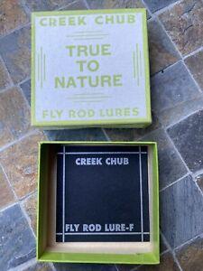 Creek Chub Garrett Indiana Vintage Fly Rod Fishing Lure Box