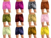 Satin Boxers Underpants Satin Men's Short Pant Night Wear Short Lounge Pants S53
