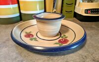 Art Pottery Chip And Dip Bowl
