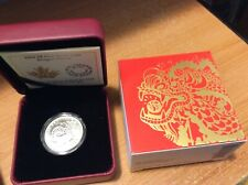 2016 DRAGON DANCE 8 DOLLAR FINE SILVER CANADIAN MINT ISSUE COIN