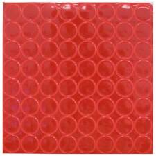 """RED Reflective Adhesive Vinyl Mailbox Dots - 64 Stickers per Sheet - 1"""" Wide"""