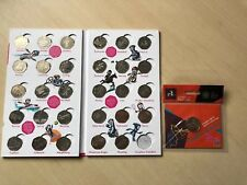 Official London Olympic 2012 50p Coins Sports Collection Album With Completer