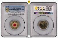 2012 Red Poppy $2 Remembrance Genuine  - UNC Details (98 - Damage)