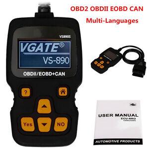 Auto Car Scanner Code Reader OBD2 OBDII EOBD CAN Diagnostic Tool Multi-Languages