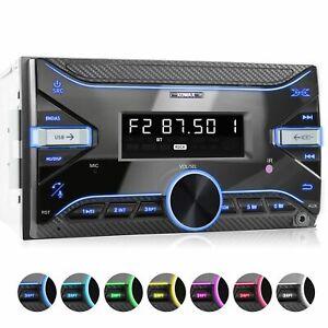 Rds Car Radio avec Bluetooth Usb Mp3 Wma Id3 tag Auxin 2Din