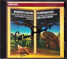 Sir Colin DAVIS Signiert HAYDN Symphony No.82 Bear & 83 Hen CD PHILIPS 1987