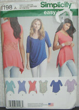 Womens/Misses Easy Tops Tunics Sewing Pattern/Simplicity 1198/SZ XXS-XXL/UCN