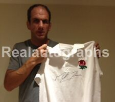 Martin Johnson Signed England Rugby Shirt Proof Coa