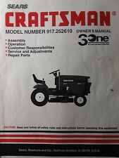 Sears Craftsman 15hp Lawn Tractor 42 Hydrostatic Owner & Parts Manual 917.252610