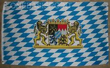 3'x5' Free State Of Bavaria Munich Germany Flag Coat Of Arms Lions Banner 3x5