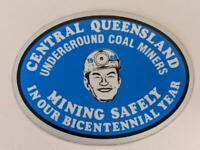 Retro Mining Sticker - Central Qld Underground Coal Miners -Mining Safety